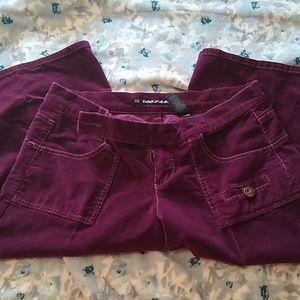 Corduroy purple capris